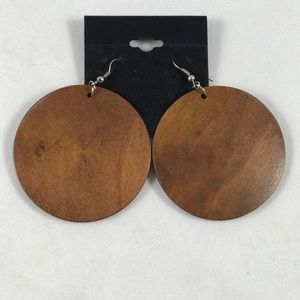 Lexico Fashion Jewelry - Wood Barbwire silver earrings